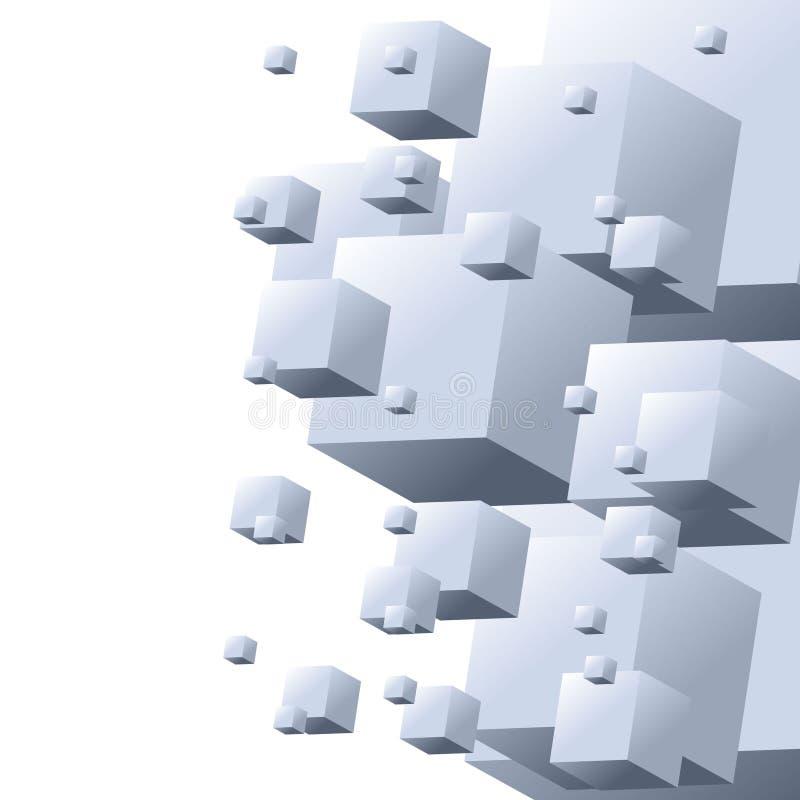 абстрактная конструкция кубика иллюстрация вектора