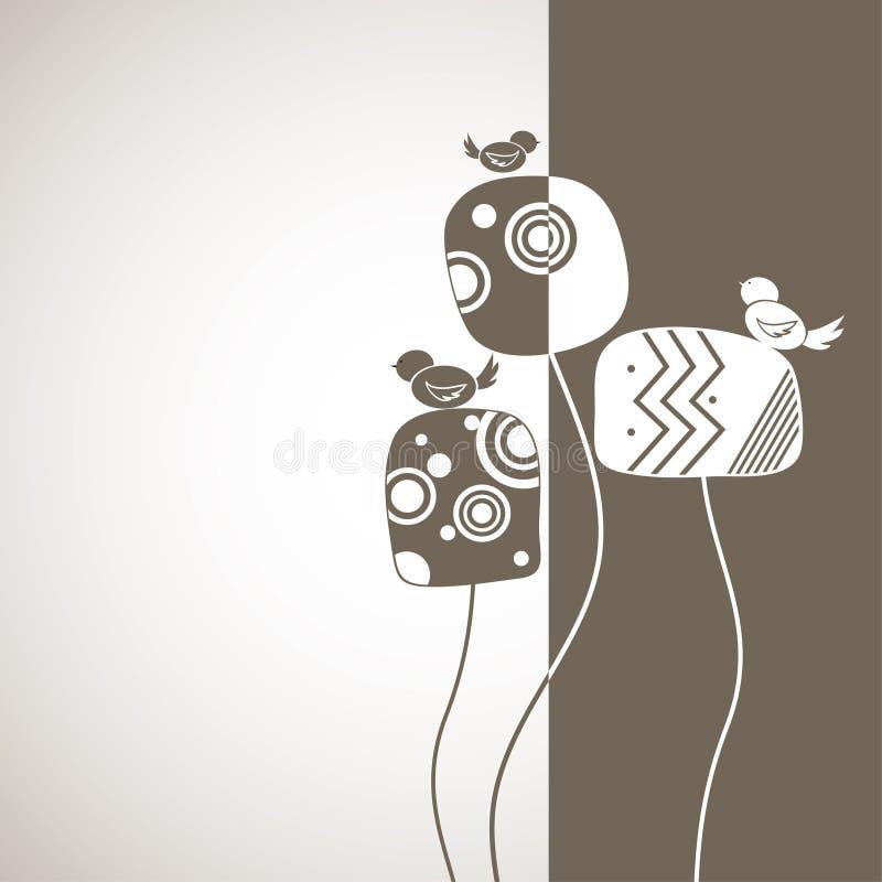 абстрактная конструкция птиц предпосылки иллюстрация вектора