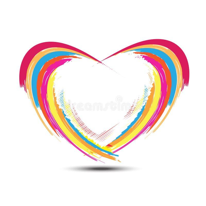 Абстрактная конструкция сердца радуги бесплатная иллюстрация