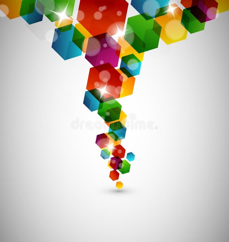 Абстрактная конструкция шестиугольника бесплатная иллюстрация