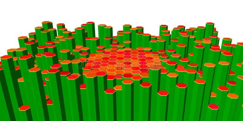 Абстрактная конструкция шестиугольников также вектор иллюстрации притяжки corel бесплатная иллюстрация
