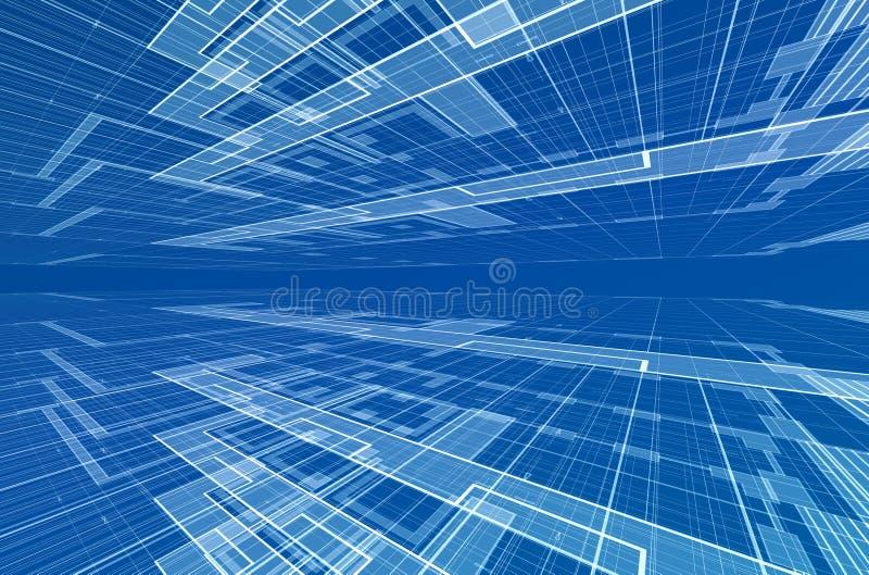 абстрактная конструкция иллюстрация вектора