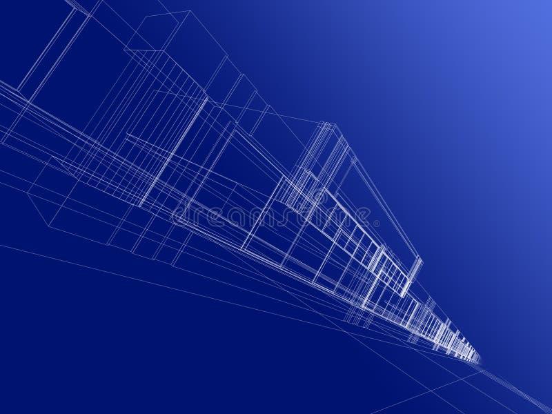 абстрактная конструкция 3d иллюстрация вектора