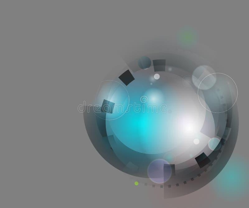 Абстрактная концепция инженерства иллюстрация вектора