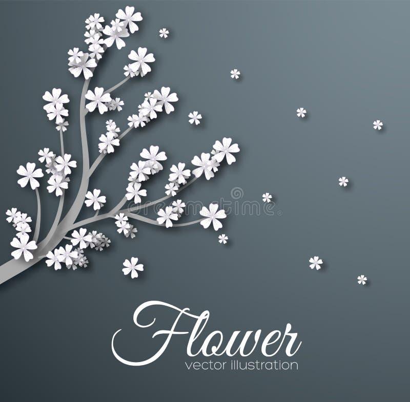 Абстрактная концепция предпосылки цветка орнамента Дизайн иллюстрации вектора иллюстрация штока