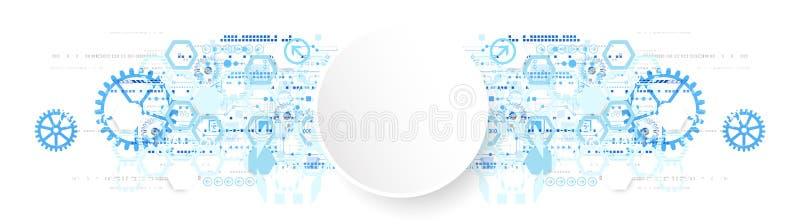 Абстрактная концепция связи технологии предпосылки иллюстрация штока