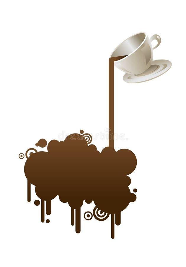 абстрактная кофейная чашка предпосылки иллюстрация штока