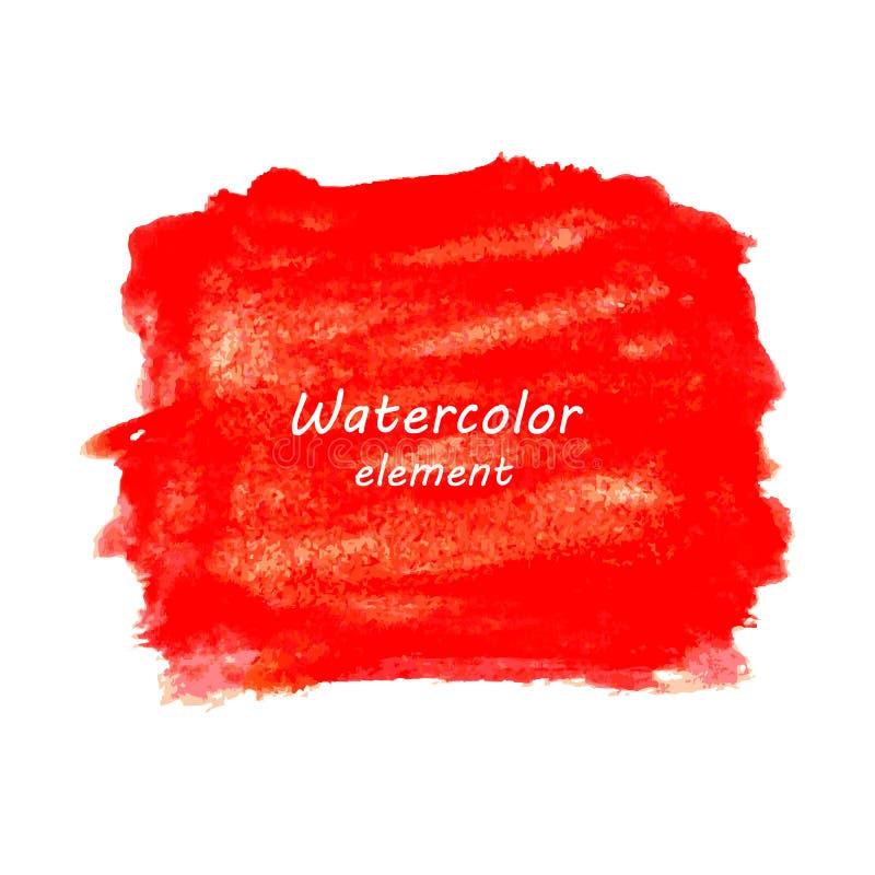 Абстрактная краска руки искусства акварели изолированная дальше иллюстрация вектора