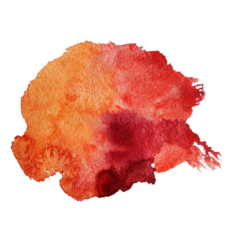 Абстрактная красная акварель иллюстрация вектора