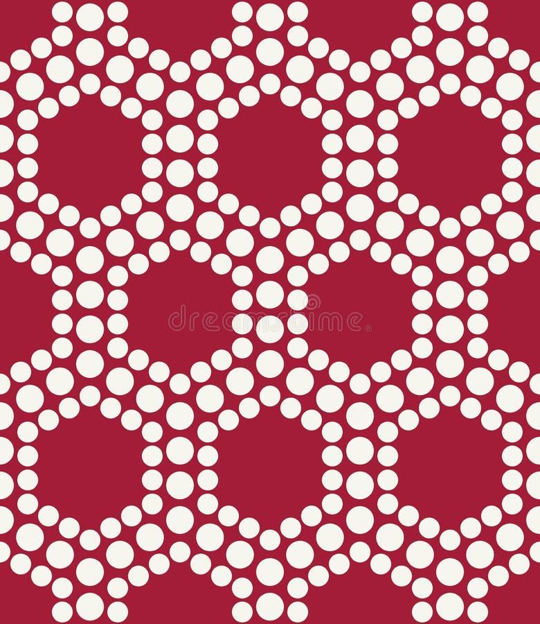 Абстрактная красная геометрическая картина точек шестиугольника дизайна треугольника бесплатная иллюстрация