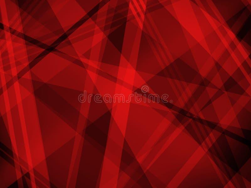 Абстрактная красная и черная предпосылка с раскосными слоями и формой нашивки бесплатная иллюстрация