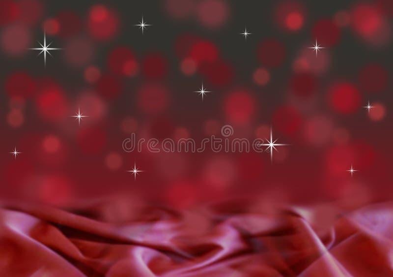 Абстрактная красная и черная предпосылка рождества bokeh с сатинировкой стоковое изображение rf