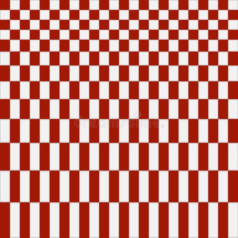 Абстрактная красная checkered предпосылка картины иллюстрация штока