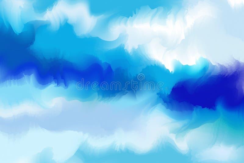Абстрактная красочная акварель для предпосылки Paintin искусства цифров иллюстрация штока
