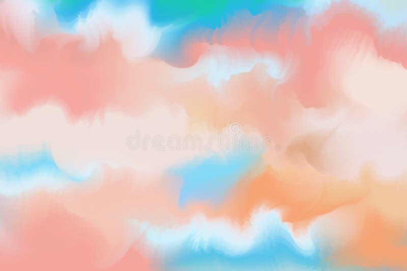 Абстрактная красочная акварель для предпосылки Paintin искусства цифров бесплатная иллюстрация