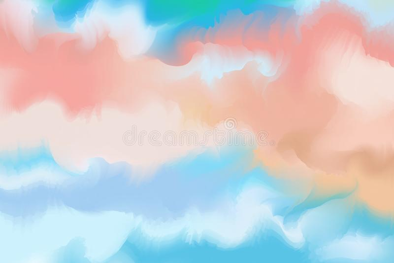 Абстрактная красочная акварель для предпосылки Paintin искусства цифров иллюстрация вектора