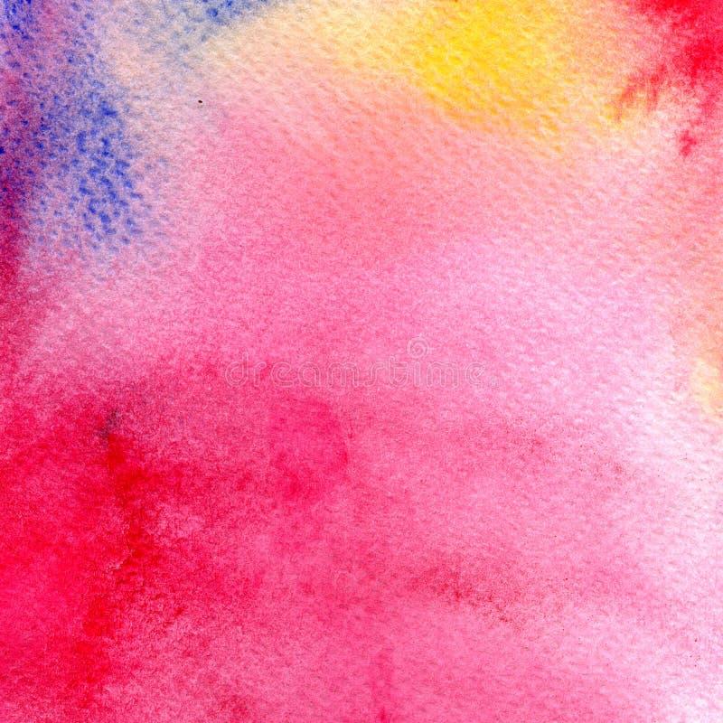 Абстрактная красочная акварель для предпосылки Картина искусства цифров иллюстрация штока