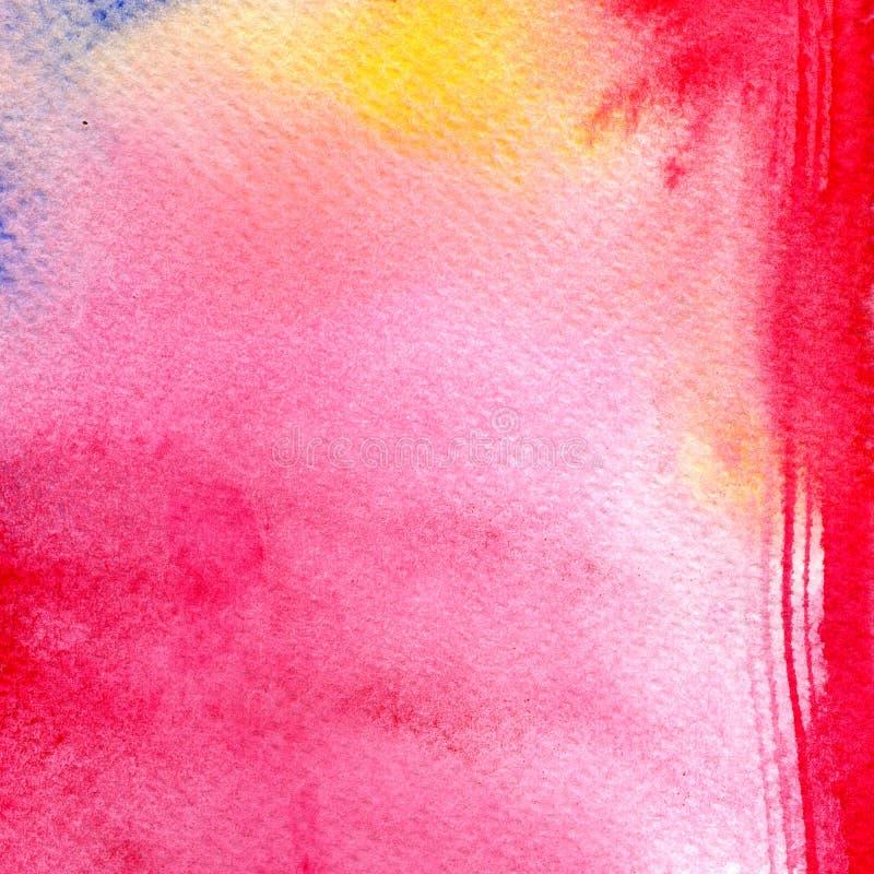 Абстрактная красочная акварель для предпосылки Картина искусства цифров бесплатная иллюстрация