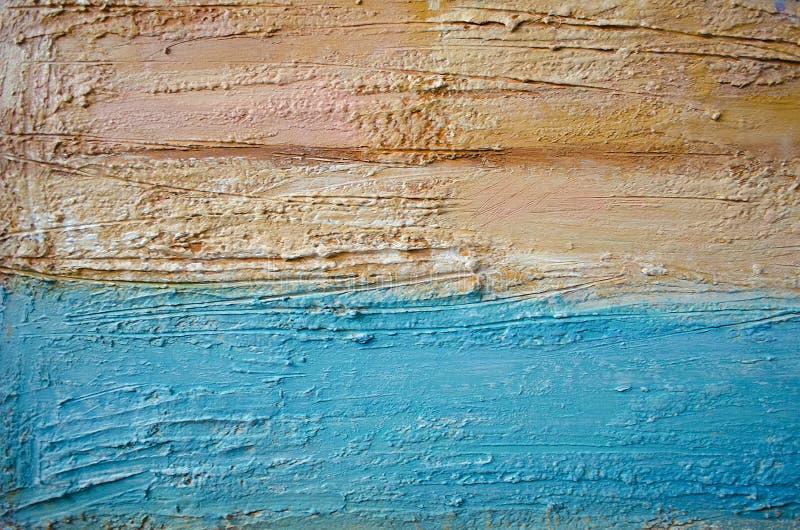 Абстрактная красочная акриловая картина холстина Предпосылка Grunge Блоки текстуры хода щетки художническая предпосылка Смогите б стоковая фотография