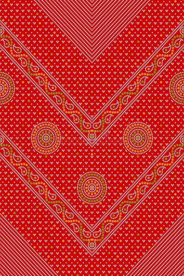 Абстрактная красочная картина печати блока иллюстрация штока