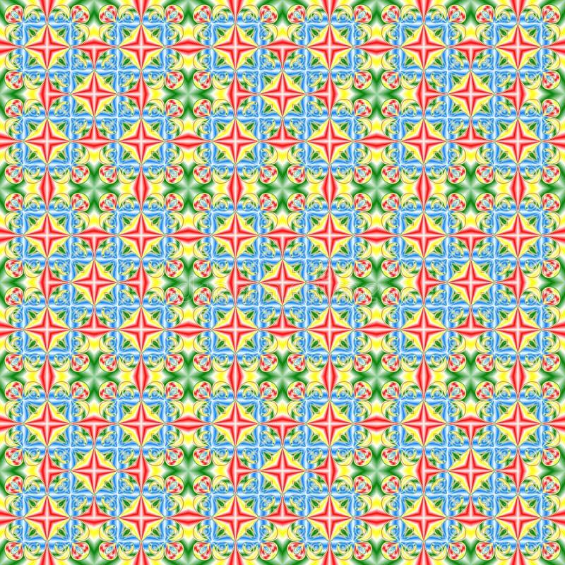 Абстрактная красочная картина плитки Multicolor предпосылка текстуры веревочка иллюстрации безшовная иллюстрация штока