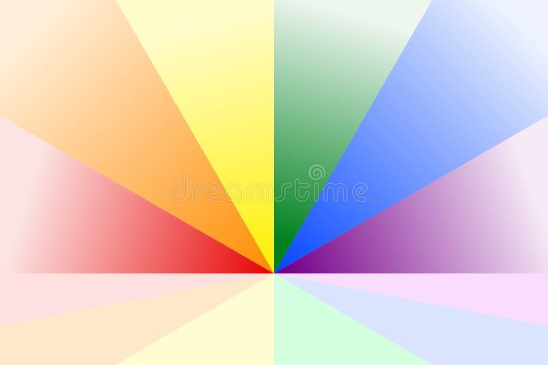 Абстрактная красочная картина sunburst в радуге красит цвета LGBT или LGBTQ Иллюстрация вектора, EPS10 геометрическая картина бесплатная иллюстрация