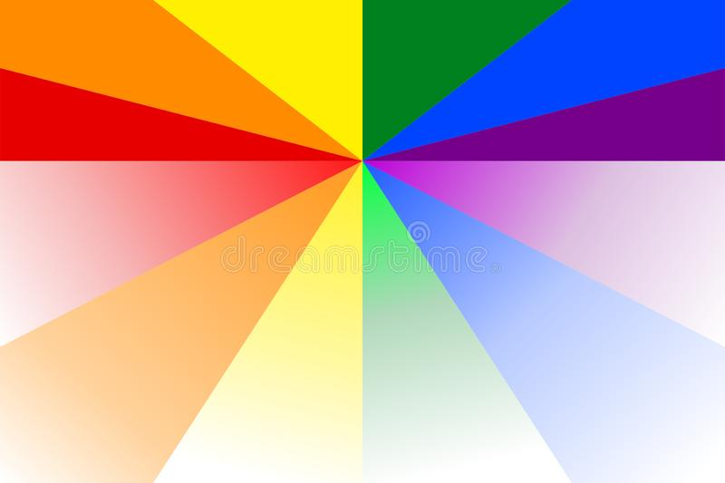 Абстрактная красочная картина sunburst в радуге красит цвета LGBT или LGBTQ Иллюстрация вектора, EPS10 геометрическая картина иллюстрация вектора