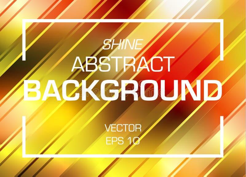 Абстрактная красочная линия предпосылка блеска в цвете золота бесплатная иллюстрация