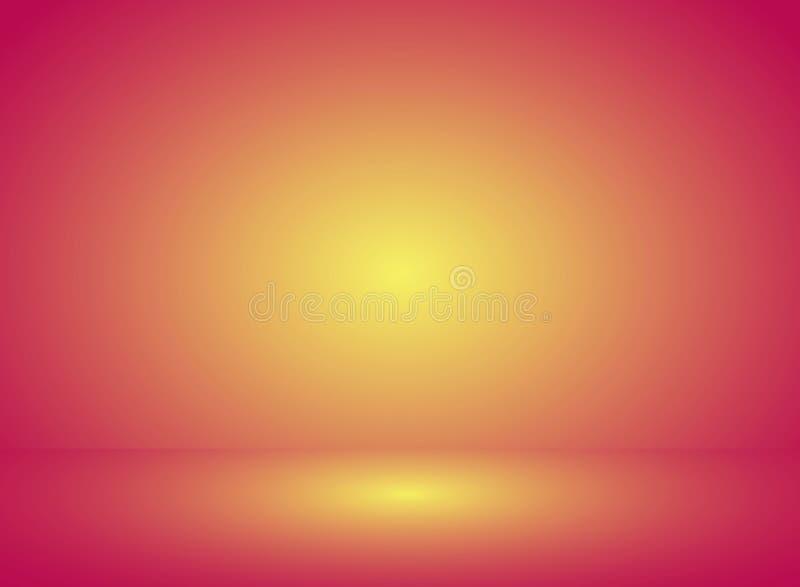Абстрактная красочная насмешка вверх по розовой желтой предпосылке градиента r иллюстрация штока