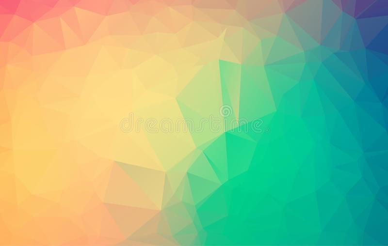 Абстрактная красочная полигональная предпосылка, вектор Геометрическая предпосылка апельсина и белизны с триангулярными полигонам иллюстрация штока