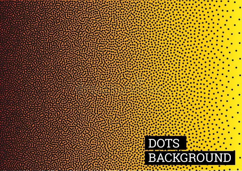 Абстрактная красочная предпосылка от точек Желтая предпосылка конспекта вектора Предпосылка вектора grunge полутонового изображен бесплатная иллюстрация
