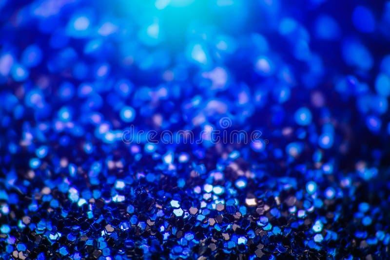 Абстрактная красочная предпосылка с небольшим голубым шестиугольником, фото яркого блеска макроса стоковое фото rf