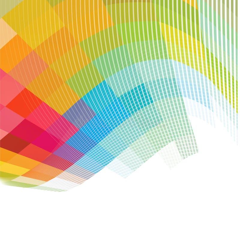 Абстрактная красочная предпосылка, вектор бесплатная иллюстрация