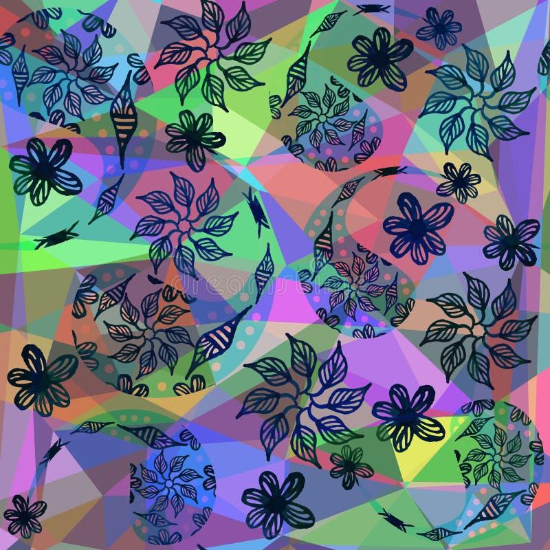 Абстрактная красочная предпосылка Пейсли Милое изображение для печати бесплатная иллюстрация