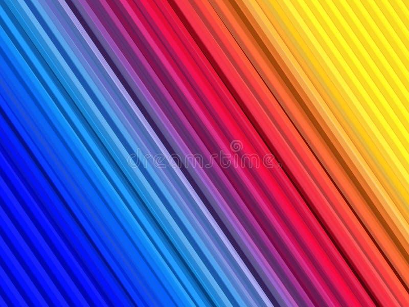 Абстрактная красочная предпосылка с прямыми линиями нашивками знамя красит сетки иллюстрации кривых никакой вектор радуги белым Д иллюстрация вектора