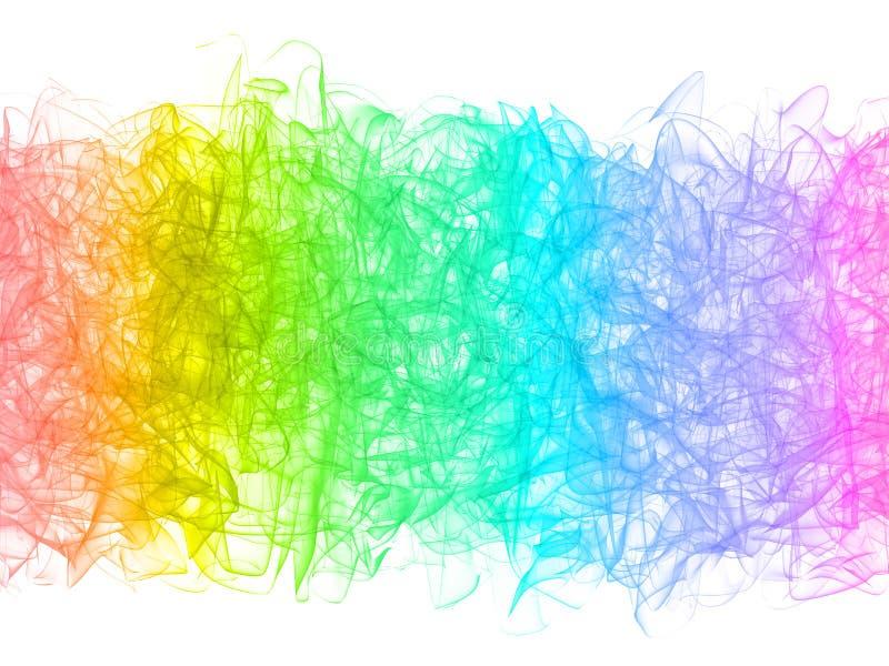 Абстрактная красочная свирль дыма на белизне бесплатная иллюстрация