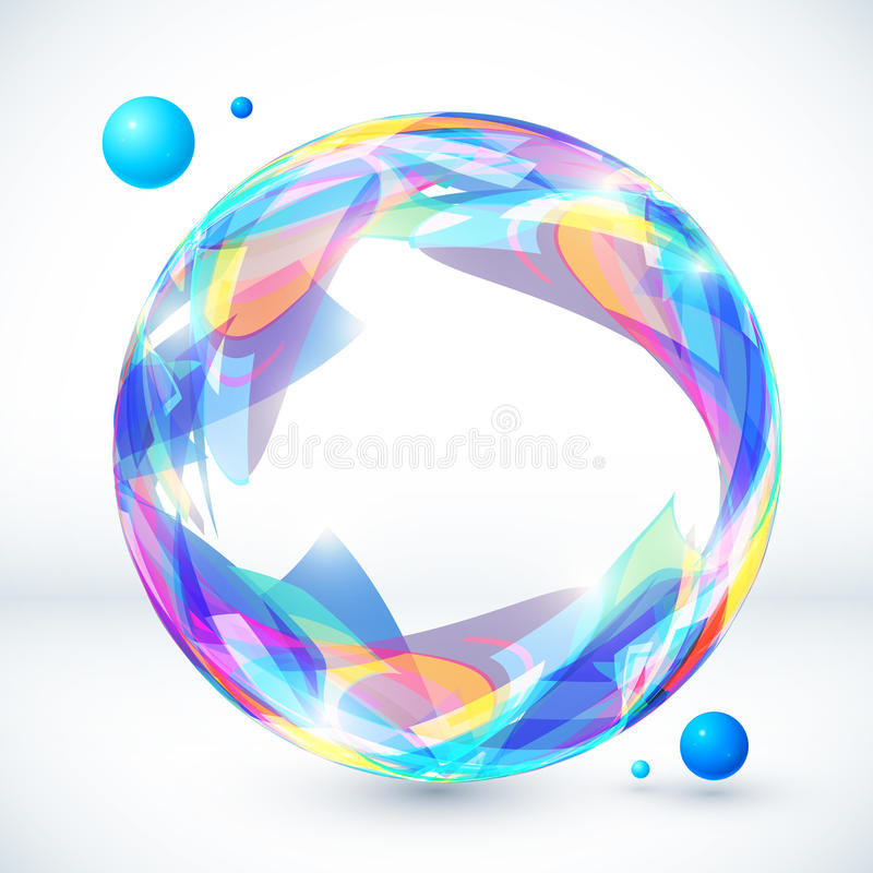 Абстрактная красочная сфера, изображение вектора бесплатная иллюстрация