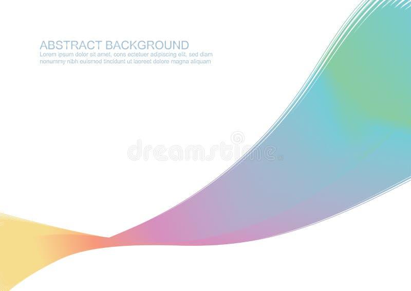 Абстрактная красочная текстура картины предпосылки волны стиля для знамени сети, плаката, рогульки, брошюры, листовки, дизайна де иллюстрация вектора