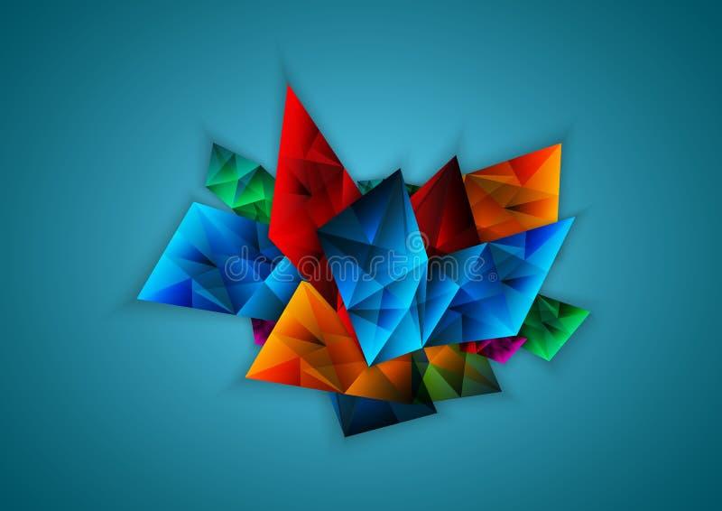 Абстрактная красочная фасетка, вектор иллюстрация штока