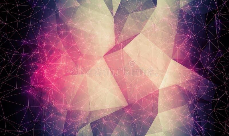 Абстрактная красочная цифровая полигональная предпосылка 3d бесплатная иллюстрация