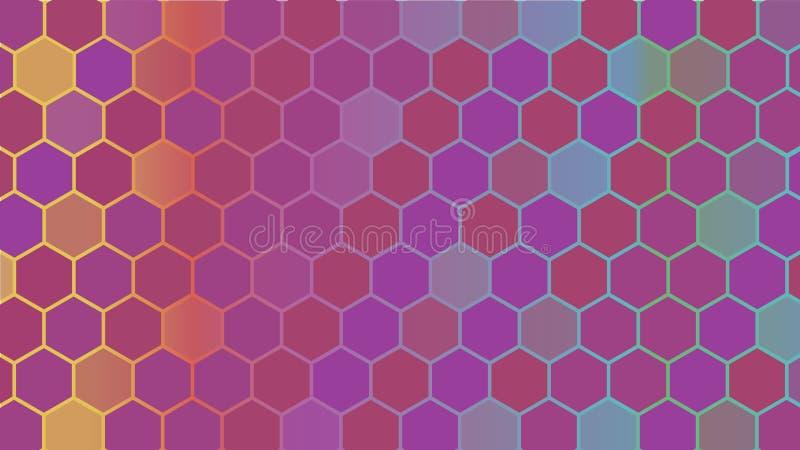 Абстрактная красочная шестиугольная геометрическая предпосылка вектор иллюстрация вектора