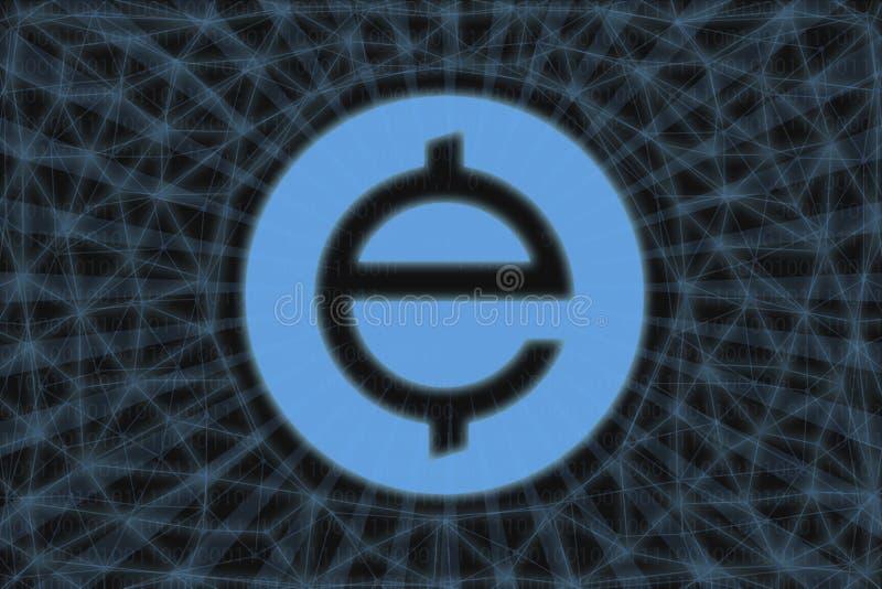 Абстрактная криптократия Exchange Union XUC С темным фоном и мировой картой Графическая концепция дизайна иллюстрация вектора