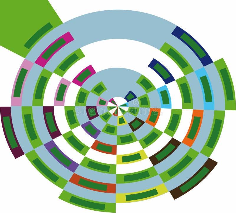 Абстрактная круглая диаграмма сделанная от блоков иллюстрация штока