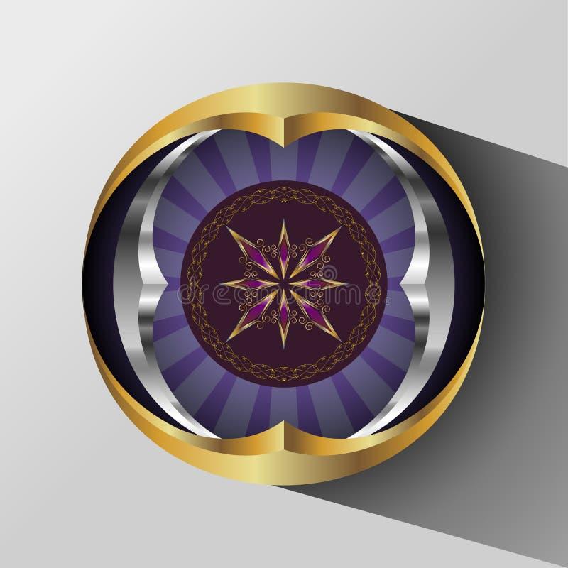 Абстрактная круглая диаграмма иллюстрация штока