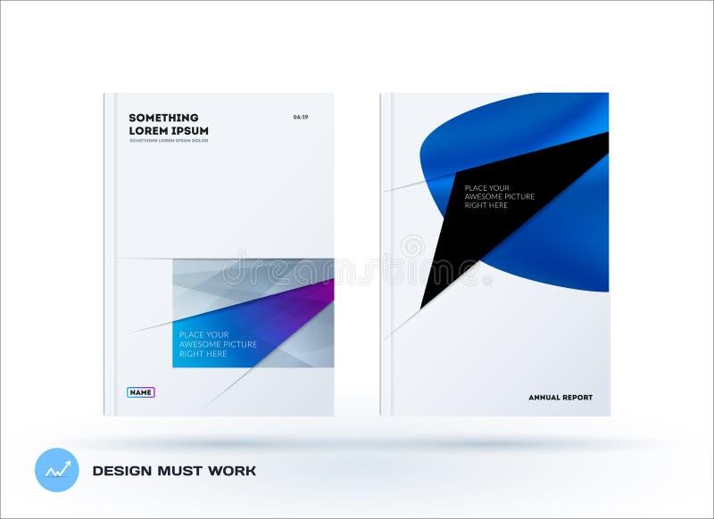 Абстрактная крышка брошюры дизайна, творческий летчик в A4 с красочными формами для клеймить, выходя на рынок набор стоковые изображения