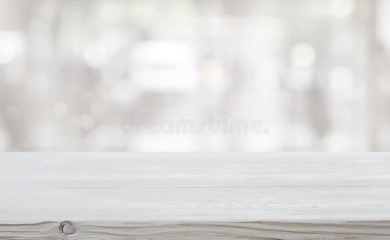 Абстрактная ледистая предпосылка и пустой деревянный стол для дисплея продукта стоковое изображение