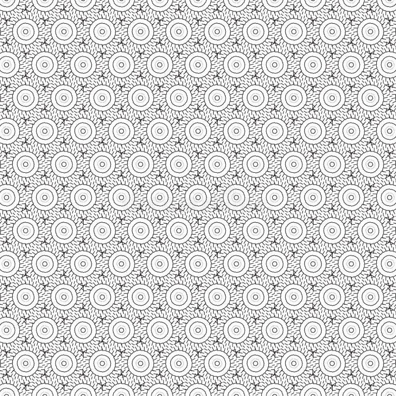 Абстрактная линия безшовная иллюстрация круга свирли орнамента притяжки вектора предпосылки картины бесплатная иллюстрация