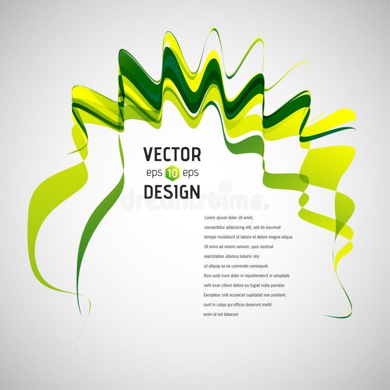 абстрактная линия вектор предпосылки Развевая знамя ленты бесплатная иллюстрация