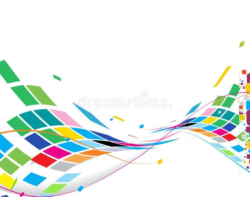 абстрактная линия волна радуги иллюстрация вектора