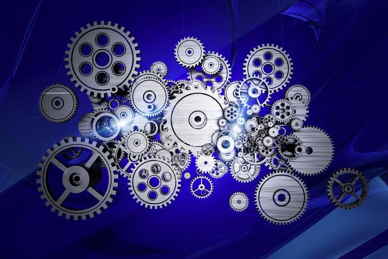 Абстрактная машина шестерен иллюстрация вектора